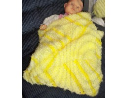 Fuzzy Soft Crocheted Baby Blanket