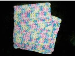 Preemie/Doll Blanket, hand-crocheted