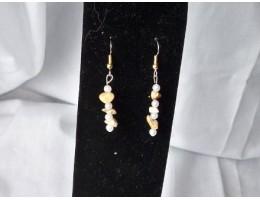 Picture Jasper & Pearl earrings
