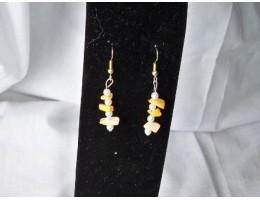 Crazy Agate & Pearl earrings