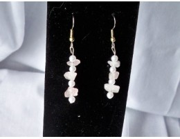 Rose Quartz & Pearl earrings