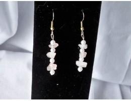 Rose Quartz & Pearl earrings