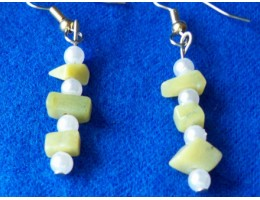 Green Aventurine & Pearl earrings