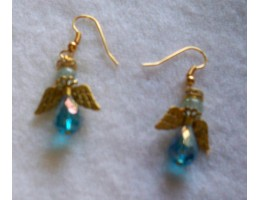 Angel Drop earrings - Gold Wings