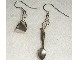 Cup and Spoon earrings