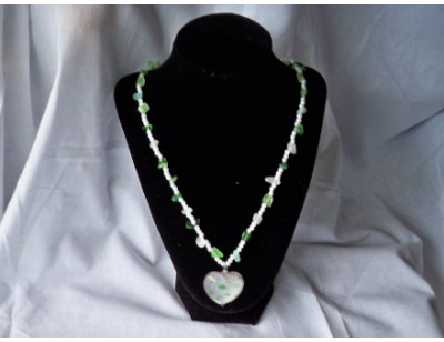 Green Dyed Agate necklace