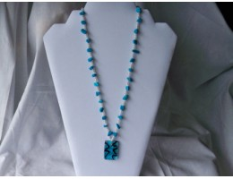 Howlite Dyed Turquoise necklace