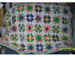 Hand-Crocheted Granny Square Lapghan