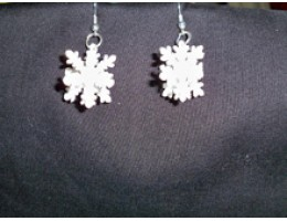 3-D Snowflake Earrings