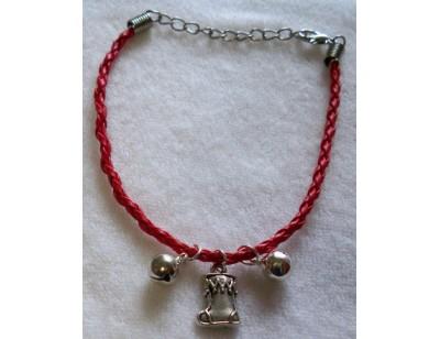 Leatherette Christmas Charm Bracelet