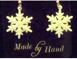 Flat Snowflake Earrings