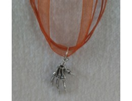 Halloween Charm Ribbon Necklace
