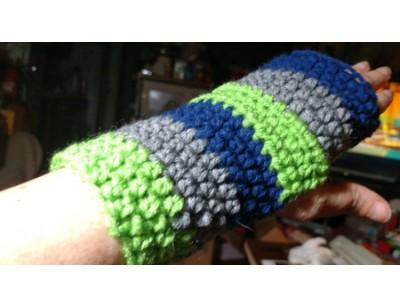 Hand-crocheted Wrist Warmers