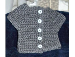 Crocheted Sweater for 18-inch doll